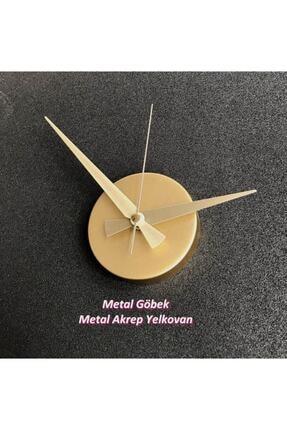 stilinbu Metal Göbek Duvar Saati Büyük 3d Romen Rakamlı 2