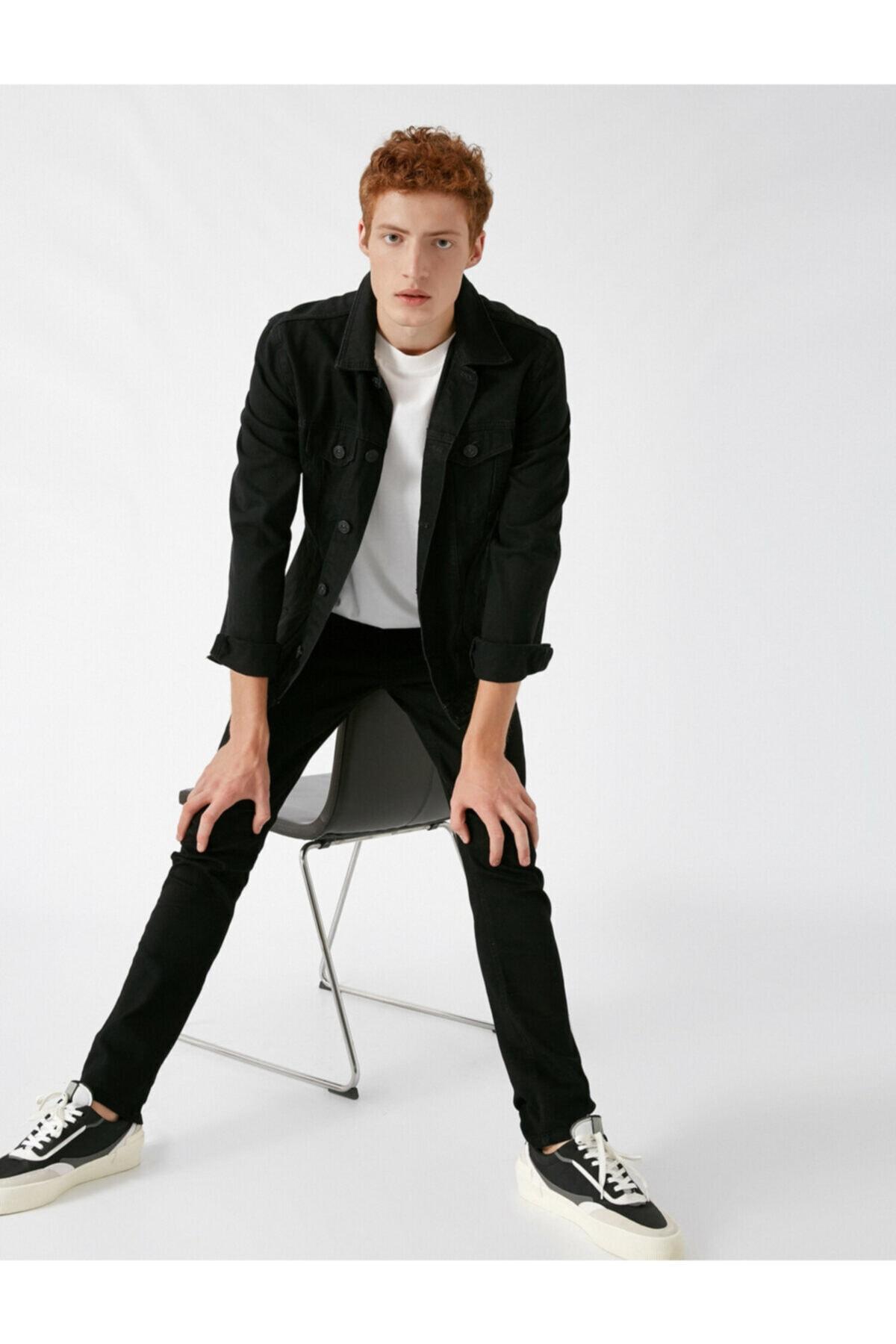 Erkek Siyah Jeans 1KAM43003MD