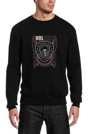 Collage Volbeat Beyond Hell Volbeat Baskılı Siyah Erkek Örme Sweatshirt Uzun Kol 0