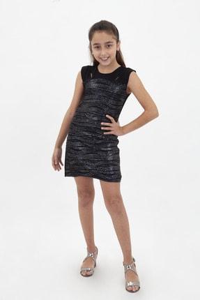 Kız Çocuk Simli Abiye Elbise 17-K4022ELB
