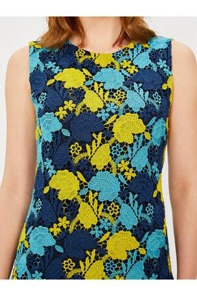 Vekem Kadın Lacivert Kolsuz Yuvarlak Yaka Dantel Elbise 4