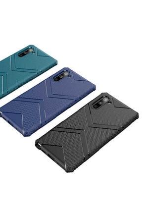 Zore Galaxy Note 10 Zore Hank Silikon Koyu Yeşil Kılıf 1