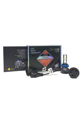 LEDMAX H11 Mini/slim Şimşek Led Xenon Far Ampul 8000 Lümen 6500 K Beyaz Renk, Fan Soğutuculu 2