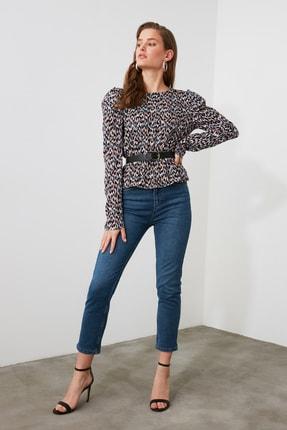 TRENDYOLMİLLA Mavi Yüksek Bel Mom Jeans TWOAW21JE0418 0