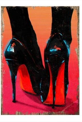 Topuklu Ayakkabılar Art Mdf Poster 25cm X 35cm dikey-22958-25-35