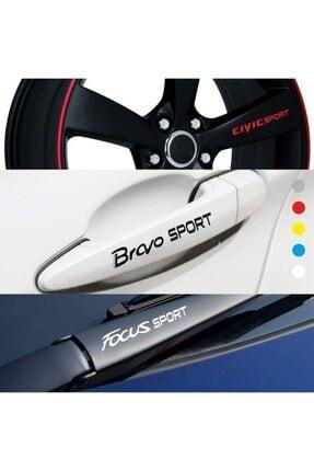 bys Renault Symbol Için Kapı Kolu Ve Jant Sticker (10 Adet) 2