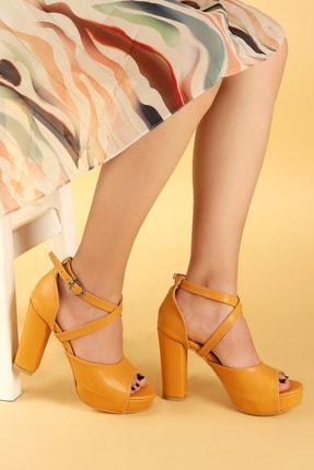 Ayakland Kadın 11 Cm Platform Topuk Sandalet Ayakkabı 1