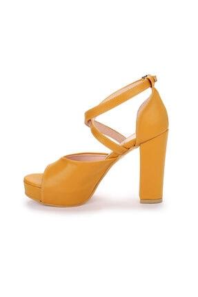 Ayakland Kadın 11 Cm Platform Topuk Sandalet Ayakkabı 4
