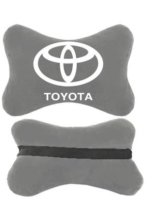 1araba1ev Toyota Carina Oto Oto Koltuk Boyun Yastığı Seyahat Yastık 2 Adet Gri 0