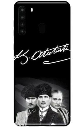 Turkiyecepaksesuar Samsung Galaxy A21 Kılıf Silikon Baskılı Desenli Arka Kapak 0