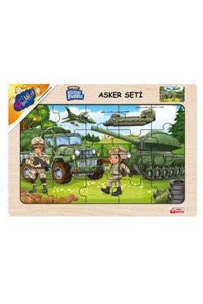 Play Wood Playwood Ahşap Eğitici Puzzle Asker Seti Ony-241 0