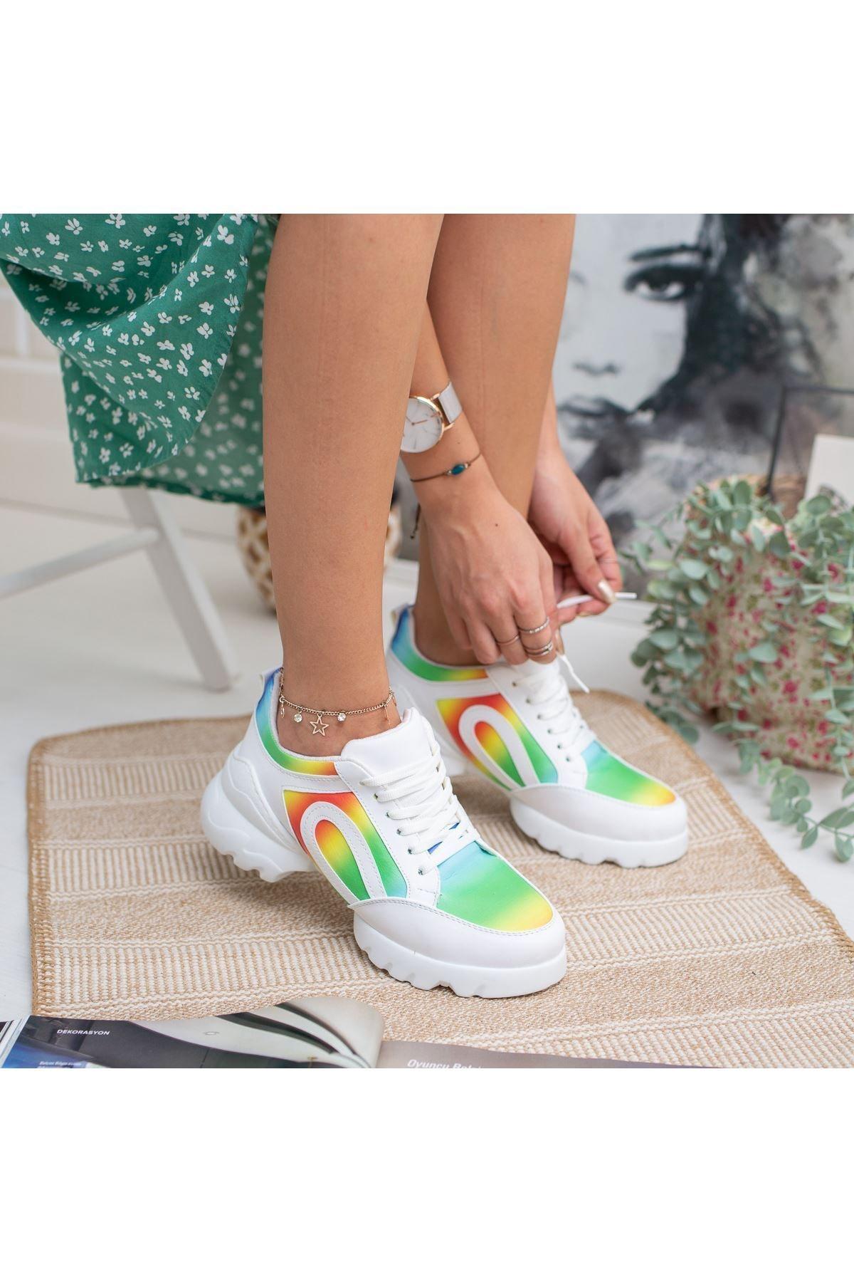 markasende Kadın Vista Mor Ortapedik Spor Ayakkabı
