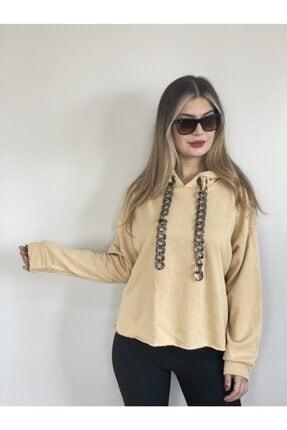 VEGALİFE Kadın Krem Sweatshirt 0