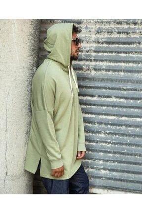 RANESA Unisex Yeşil Mint Kapüşonlu Sweatshirt 3