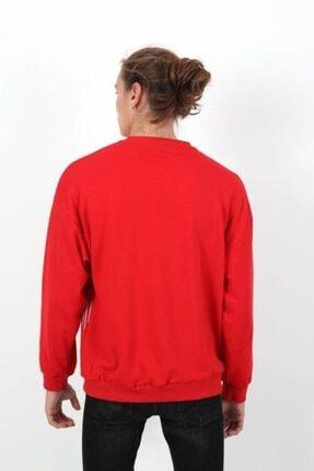 RANESA Unisex Kırmızı Oversize Sweatshirt 3