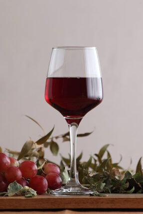 Lav Lal 6'Lı Kırmızı Şarap Kadehi 0