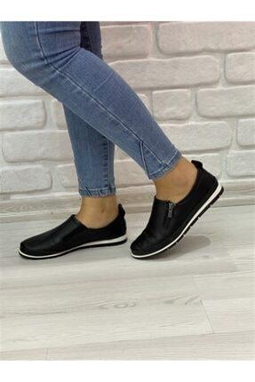 RİKEL DERİ Kadın Siyah Hakiki Deri Günlük Ayakkabı 1