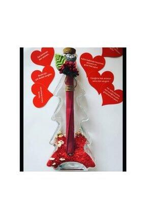 Şirin Hediyelik Çam Şişede Sevgiliye Özel Aşk Dolu Hediye Sepeti 2