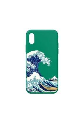 SUMTHINCS Waves Premium Yeşil Iphone X/xs Telefon Kılıfı 0
