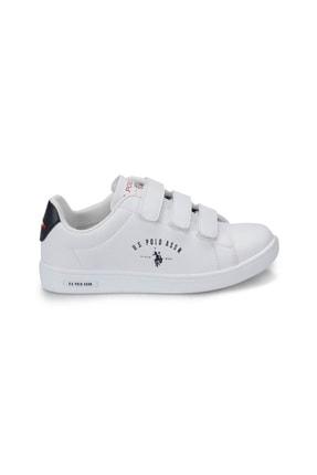 US Polo Assn U.s. Polo Assn. Kadın Ayakkabı 8P Singer Beyaz/White 20S048PSİNGER 1