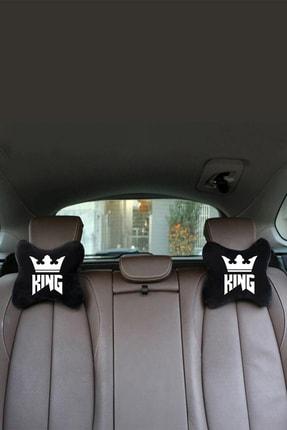 1araba1ev Mercedes 3 Oto Araç Boyun Yastığı Seyahat Yastık King 2 Adet Siyah 4