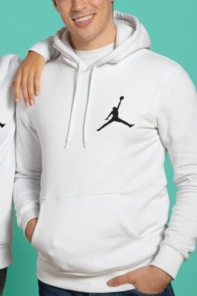 HEDİYELİMANİ Unisex Beyaz Air Jordan Kapüşon Sweatshirt Hoodie 1