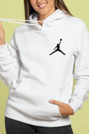 HEDİYELİMANİ Unisex Beyaz Air Jordan Kapüşon Sweatshirt Hoodie 2