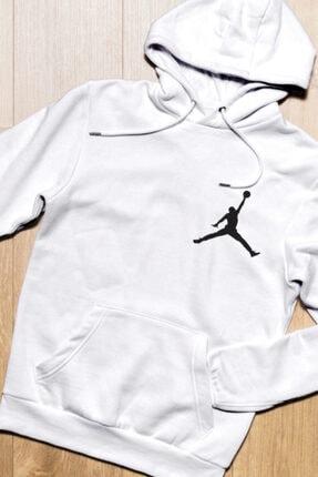 HEDİYELİMANİ Unisex Beyaz Air Jordan Kapüşon Sweatshirt Hoodie 3