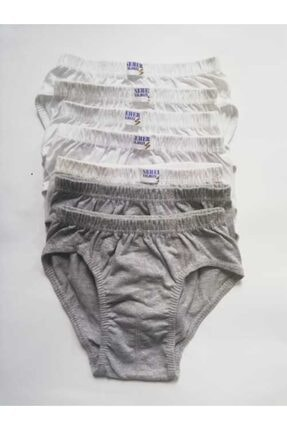 Picture of Erkek Çocuk Gri Beyaz  7'li Paket Külot