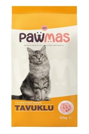 Pawmas Tavuklu Yetişkin Kedi Maması 10 Kg 1