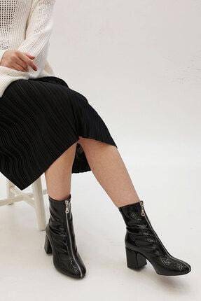 Marjin Miven Kadın Topuklu Botsiyah Rugan 0