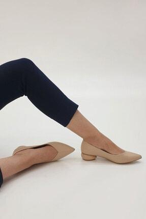 Marjin Kadın Bej Evara Günlük Topuklu Ayakkabı 2