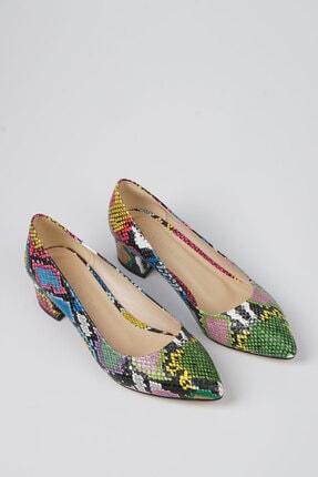 Marjin Kadın Yeşil Apunte Klasik Topuklu Ayakkabı 4