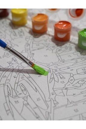 3D Art Sayılarla Boyama Tablo Seti Kanvas Fırça Boya Dahil 40x50 CM - Kayık 1