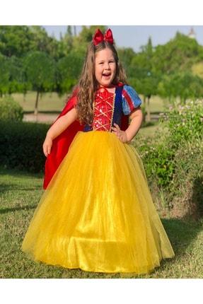 DEHAMODA Kız Çocuk Tarlatanlı Pelerin Pamuk Prenses Dogum Günü Elbise 1