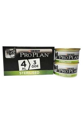 Proplan Proplan Sterilised Somonlu Kısırlaştırılmış Kedi Konservesi 85 Gr 4 Al 3 Öde 0