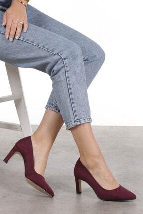 Mio Gusto Lita Bordo Süet Topuklu Ayakkabı 2