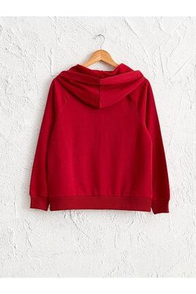 LC Waikiki Kadın Kırmızı Sweatshirt 1
