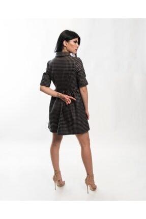 EPATAGE Kadın Bej Ekoseli Elbise 2