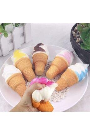 Squishy Dondurma 16 Cm Yavaş Yükselen Sukuşi Oyuncak Kremalı Dondurma 0