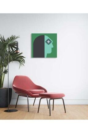 Sizy Mdf Tablo - Puzzle Yeşil Tenli Kadın 0