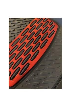 BigS Bmw 2 Serisi Kırmızı Krom Detaylı 4d Derin Havuzlu Paspas Seti 3