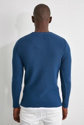 TRENDYOL MAN Mavi Erkek Kazak TMNAW21KZ1563 4