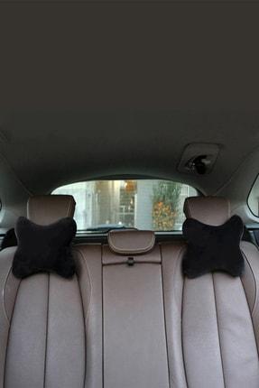 1araba1ev Mazda 6 Oto Koltuk Boyun Yastığı Seyahat Yastık 2 Adet Siyah 4