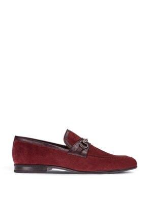 Deery Erkek Bordo Hakiki Süet Loafer Ayakkabı 0