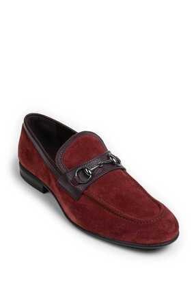 Deery Erkek Bordo Hakiki Süet Loafer Ayakkabı 1