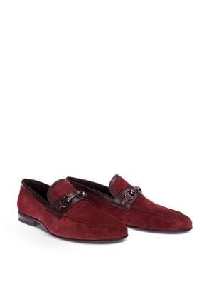 Deery Erkek Bordo Hakiki Süet Loafer Ayakkabı 4