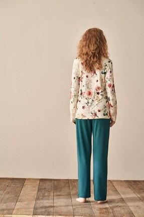 Lohusa Sepeti Kadın Yeşil Lohusa Pijama Takımı 3931 1