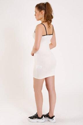 Zechka Önü Yazılı Askılı Elbise (za011) 2