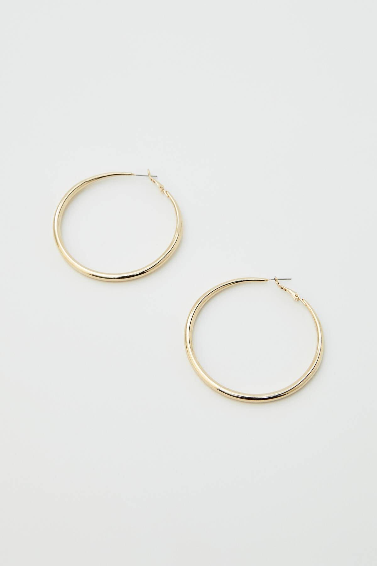 Pull & Bear Kadın Gümüş Karma Renkli Halka Küpe Seti 09996384 2